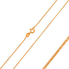 Pure 0.8mm 925 Sterling Silver Chain Necklace / Rose Gold Plated made in italy