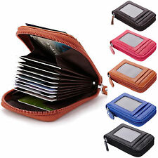 Mens/Womens Genuine Leather Wallet ID Credit Cards Holder Organizer Purse %