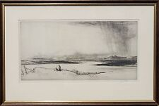Approaching Storm Original Drypoint Etching Alfred Bentley RE, Signed circa 1920