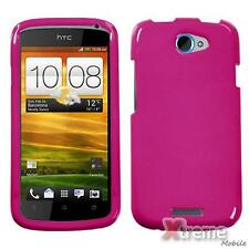 XM-Solid Hot Pink Phone Snap-on Hard Case For HTC One S