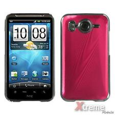 XM-Red brushedMETAL Cosmo Back Snap-on Hard Case Cover For HTC Inspire 4G