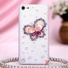 XM-APPLE iPod touch(5th generation) Case Cover Pearl 3D Diamond Purple Butterfly