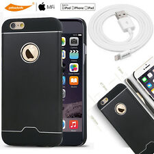 Apple 3m Lightning Cable/Tempered Glass Cover+Luxury Shell Hard Case iPhone 6/6S