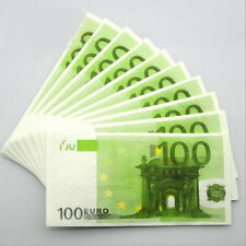 100 PCS €100 Euros Note Novelty Money 3 Ply EU Printed Tissues / Napkins M3
