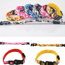 Safety Collar Pet Dog Nylon LED Light Adjustable Light Up for Night Flashing
