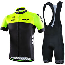 Mens CHEJI Cycling Kits Bicycle Jersey & ( Bib) Shorts / Short Pants Bike Wear