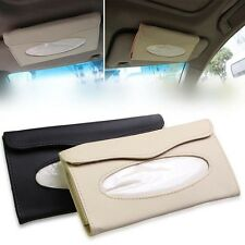 Car PU Leather Clip Sun Visor Tissue Box Paper Case Cover Napkin Holder
