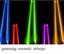 FIRESTIX Light Up Glow Acrylic Lighted Drum Sticks Drumsticks