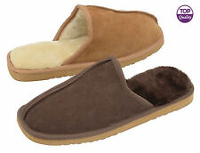 Mens Slippers Dunlop Slip On New Shoes Winter Indoor Warm Mules Faux Suede Size