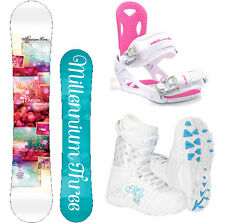 M3 Escape 148 Womens Snowboard + M3 Bindings+ M3 Boots NEW