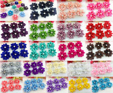 HOT 10-100PCS Satin Ribbon Flower with Crystal Bead Appliques~Craft/Trim DIY