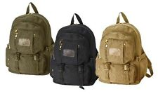 "16.5"" trendy backpack with Cotton canvas material"