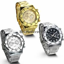 Luxury Business Men's Watches Stainless Steel Band Analog Quartz Wrist Watch