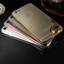 2016 Aluminum Ultra-thin Mirror Metal Case Cover For iPhone + Protector + Stylus