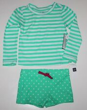 baby Gap NWT Girl 18 24 Mo Mint Green Stripe Rash Guard Swimsuit
