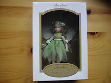 Porcelain Fairy Doll DG Creations Fairyland Collectible Ornament Green Free P&P