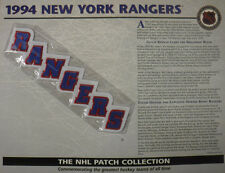 1994 NEW YORK RANGERS OFFICIAL NHL HOCKEY PATCH