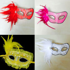 Chic Womens Eye Face Mask Masquerade Ball Feather Halloween Costume Party Mask