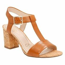 Clarks Women's Smart Deva Tan Leather Sandal