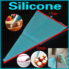 3Sizes Silicone Reusable Icing Piping Cream Pastry Bag DIY Cake Decorating Tools