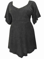 PLUS SIZE eaonplus BLACK Medieval Embroidered Blouse Tunic Top 18/20 - 30/32
