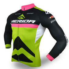 Long Sleeve Mens Cycling Jersey Bike Jacket Winter Bicycle Cycle Top S-XXXL