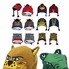 NCAA MASCOT WEAR Knit Acrylic Team Winter Beanie Hat  Adult + Youth Sizes