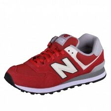 New Balance 574 Classics Traditionnels Runner Trainers white red grey ML574VAA