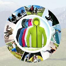 Cycling Jacket Fleece Thermal Winter Long Sleeve Jersey Running Wind Coat R2X8