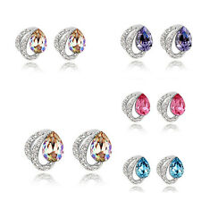 Women's Jewelry Stud Earrings Dangle Crystal Ear Hook NEW Fashion Rhinestone