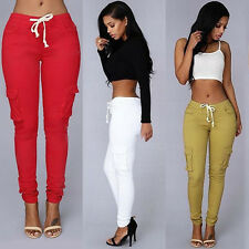 Women Casual Pencil Stretch Skinny Pants Sexy High Waist Jeans Trousers New Cool