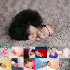 Cute Newborn Toddler Baby Girl Tutu Skirt Headband Photo Prop Costume Outfit New