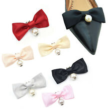 1 Pc Ribbon Pearl Bow Shoes Decor Shoe Clip Charms Removable Womens Accessories
