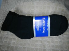 Mens Diabetic Low Cut Ankle Socks Black Size:10-13 Pick Your Lot Qty MADE IN USA
