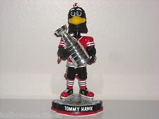 TOMMYHAWK Chicago Blackhawks Mascot Bobble Head Stanley Cup Champs Trophy NIB
