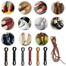 Chic Waxed Shoe Laces Round Thin  Oxford Dress Canvas Sneaker Shoe Laces Strings
