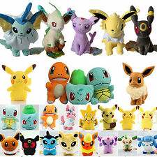 Pokemon Go Plush Soft Toy Eevee Pikachu Squirtle Stuffed Doll Collectible Gifts