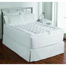 Ultimate Cuddle White Bed Mattress Topper 100% Cotton
