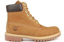 Timberland 6-Inch Premium 10061 Mens Wheat Casual Lifestyle Nubuck Leather Boots