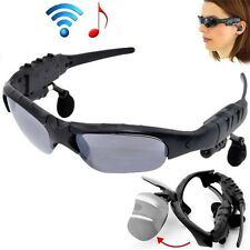 Bluetooth 4.0 Sunglasses 4GB Talk Music Headset Headphone Micphone-X Sun Glasses
