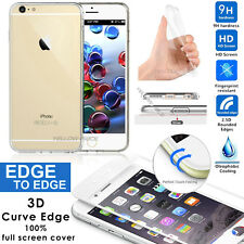 Crystal Clear Thin Transparent Case Cover+Curved Glass Screen Protector iPhone 6