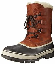 New Sorel Caribou Wool Mens Waterproof Brown Leather Winter Snow Boots Brown