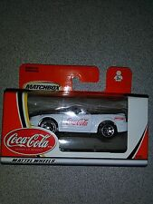 2002 Matchbox Coca Cola White Ford Mustang Convertible 92353 Box 26