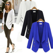 Women Career OL Long Sleeve Slim Casual Suit Blazer Jacket Coat Tops Outwear New
