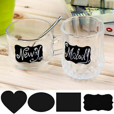 36pcs Removable Chalkboard Sticker Lable Cup Jar Container Tags Blackboard Decal