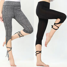 Women Sports Gym Yoga Workout Cropped Leggings Fitness Lounge Athletic Pants US