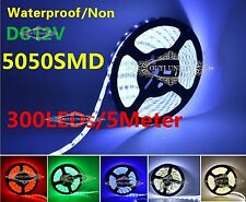 XMAS 5M SMD 5050 LED Strip Light 300LEDs Multi-color IP65/Non Waterproof DC 12V