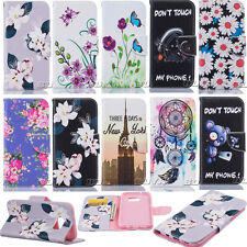 PU Leather Folio Flip Case for Samsung iPhone LG Phone Stand Wallet Cover Skin
