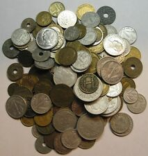LARGE LOT OBSOLETE FRENCH COINS, 130+, 1853 TO 1989