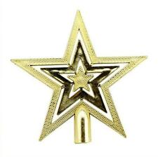 Gold Christmas Tree Topper Star Decoration XMAS Tree Ornament